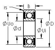 AST 6319-2RS deep groove ball bearings