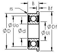AST F606H-2RS deep groove ball bearings