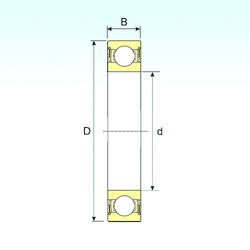 45 mm x 75 mm x 16 mm  ISB 6009-2RS deep groove ball bearings