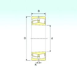 110 mm x 200 mm x 53 mm  ISB 22222 K spherical roller bearings