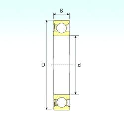 10 mm x 30 mm x 9 mm  ISB 6200-RS deep groove ball bearings
