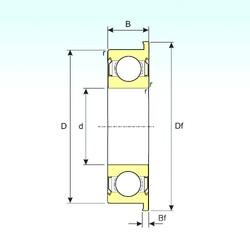 5 mm x 14 mm x 5 mm  ISB F605ZZ deep groove ball bearings