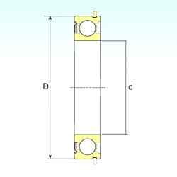10 mm x 30 mm x 9 mm  ISB 6200-ZNR deep groove ball bearings