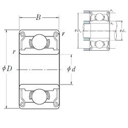 6 mm x 17 mm x 6 mm  ISO 606ZZ deep groove ball bearings