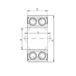 Loyal 3305 ZZ angular contact ball bearings