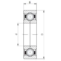 ISO QJ330 angular contact ball bearings