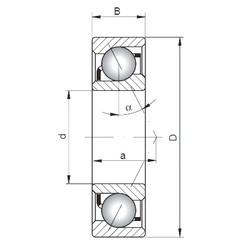 70 mm x 110 mm x 20 mm  Loyal 7014 C angular contact ball bearings