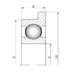 5 mm x 14 mm x 5 mm  ISO FL605 deep groove ball bearings