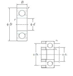 6 mm x 17 mm x 6 mm  KOYO 606 deep groove ball bearings