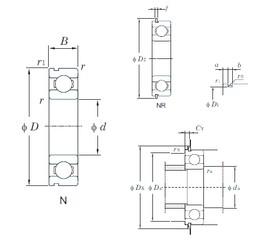 95 mm x 170 mm x 32 mm  KOYO 6219N deep groove ball bearings