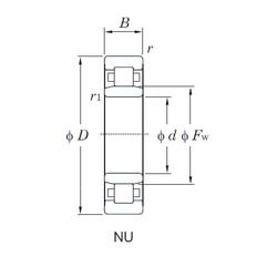 220 mm x 460 mm x 88 mm  KOYO NU344 cylindrical roller bearings