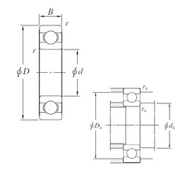 105 mm x 145 mm x 20 mm  KOYO 6921 deep groove ball bearings