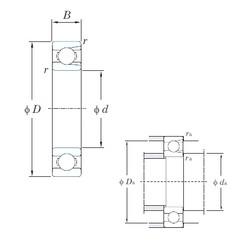 95 mm x 200 mm x 45 mm  KOYO M6319 deep groove ball bearings