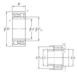 280 mm x 380 mm x 100 mm  KOYO NNU4956 cylindrical roller bearings