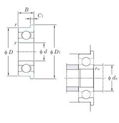 5 mm x 14 mm x 5 mm  KOYO F605 deep groove ball bearings