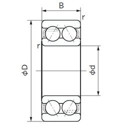 25 mm x 62 mm x 25.4 mm  NACHI 5305 angular contact ball bearings