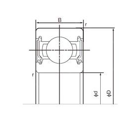 45 mm x 75 mm x 16 mm  NACHI 6009-2NSE9 deep groove ball bearings
