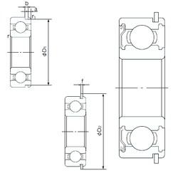 45 mm x 75 mm x 16 mm  NACHI 6009ZENR deep groove ball bearings