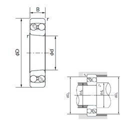95 mm x 170 mm x 32 mm  NACHI 1219K self aligning ball bearings