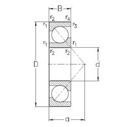 150 mm x 320 mm x 65 mm  NKE 7330-B-MP angular contact ball bearings