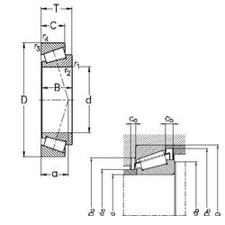 40 mm x 90 mm x 23 mm  NKE 30308 tapered roller bearings