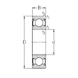 70 mm x 110 mm x 20 mm  NKE 6014-2Z deep groove ball bearings