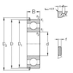 95 mm x 170 mm x 32 mm  NKE 6219-Z-N deep groove ball bearings