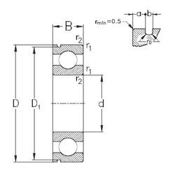 70 mm x 110 mm x 20 mm  NKE 6014-N deep groove ball bearings