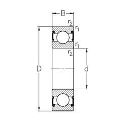 45 mm x 75 mm x 16 mm  NKE 6009-RS2 deep groove ball bearings