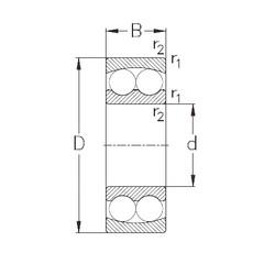 95 mm x 170 mm x 32 mm  NKE 1219 self aligning ball bearings