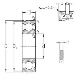 10 mm x 30 mm x 9 mm  NKE 6200-Z-NR deep groove ball bearings