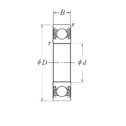 95 mm x 170 mm x 32 mm  NSK 6219DDU deep groove ball bearings