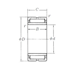 280 mm x 380 mm x 100 mm  NSK NA4956 needle roller bearings