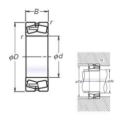 110 mm x 200 mm x 53 mm  NSK 22222L12CAM spherical roller bearings