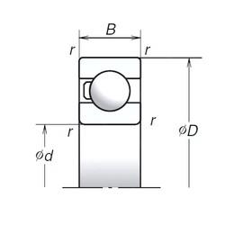 45 mm x 75 mm x 16 mm  NSK 6009T1X deep groove ball bearings