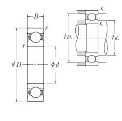105 mm x 145 mm x 20 mm  NSK 6921 deep groove ball bearings