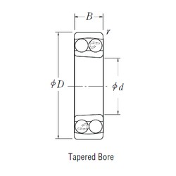 110 mm x 200 mm x 53 mm  NSK 2222 K self aligning ball bearings