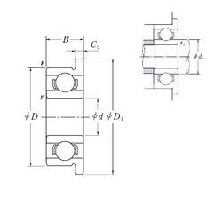 6 mm x 17 mm x 6 mm  ISO F606 deep groove ball bearings