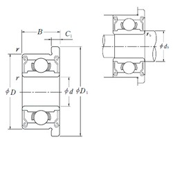 6 mm x 17 mm x 6 mm  ISO F606-2RS deep groove ball bearings