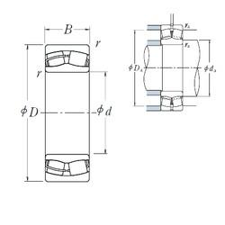 95 mm x 200 mm x 45 mm  NSK 21319CE4 spherical roller bearings