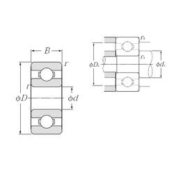 6 mm x 17 mm x 6 mm  NTN 606 deep groove ball bearings