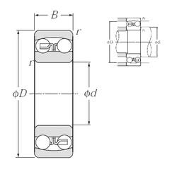95 mm x 200 mm x 45 mm  NTN 1319S self aligning ball bearings