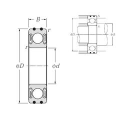10 mm x 30 mm x 9 mm  NTN AC-6200LLB deep groove ball bearings