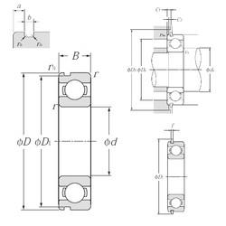 45 mm x 75 mm x 16 mm  NTN 6009NR deep groove ball bearings