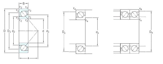 150 mm x 320 mm x 65 mm  SKF 7330BCBM angular contact ball bearings