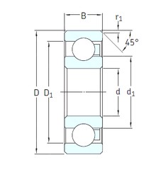 10 mm x 30 mm x 9 mm  SKF 6200/HR11QN deep groove ball bearings