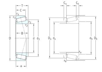 40 mm x 90 mm x 23 mm  SKF 30308J2/Q tapered roller bearings