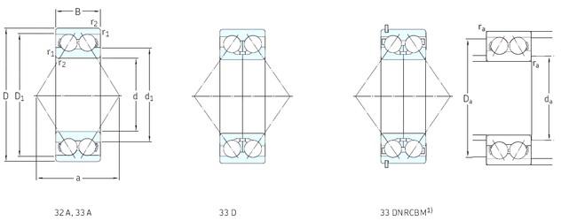 25 mm x 62 mm x 25,4 mm  SKF 3305A angular contact ball bearings