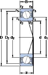 110 mm x 170 mm x 28 mm  SKF S7022 CD/P4A angular contact ball bearings