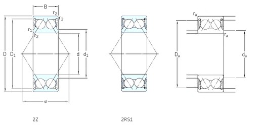 25 mm x 62 mm x 25,4 mm  SKF 3305A-2Z angular contact ball bearings